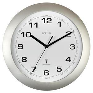 Acctim Cadiz RC Wall Clock 25.5cm Silver