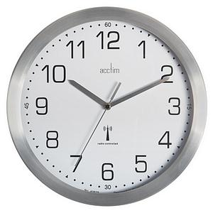 Acctim Mason Radio Controlled Wall Clock 250mm Aluminium