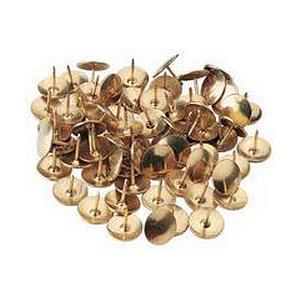 Value 9.5mm Drawing Pins Tub Brass [Pack of 1200]