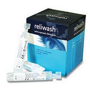 Reliance Medical ReliWash Saline Eyewash Pods 20ml [Pack of 25]