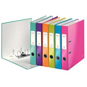 Leitz 180 WOW Lever Arch File A4 50mm Assorted [Pack of 10]