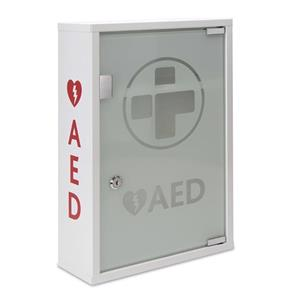 Reliance AED Alarmed Metal Wall Cabinet with Glass Door Lockable