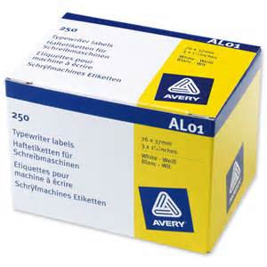 Avery AL01 Addresing Labels [Box of 250]