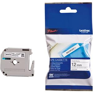 Brother MK231SBZ Black-on-White 12mm Labelling Tape