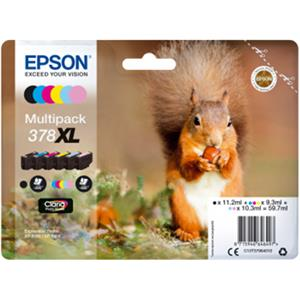 Epson 378XL Multipack 6 Ink Photo HD Cartridges