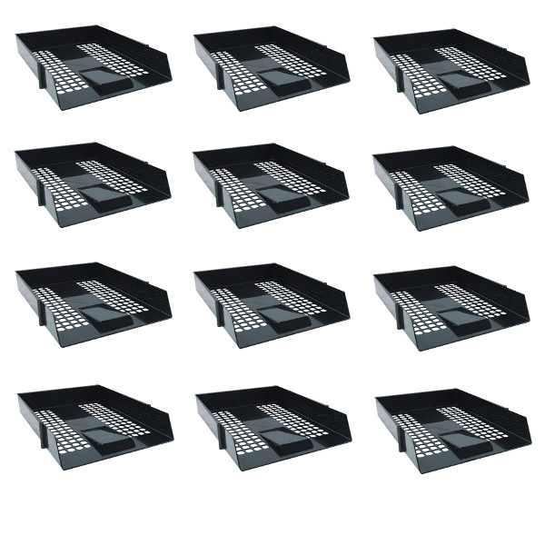 Letter Tray Black [Pack of 12]