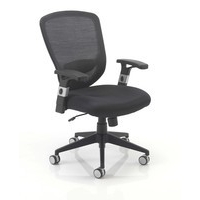 Arista Fusion High Back Mesh Chair with Locking Tilt Mechanism Black