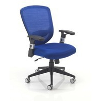 Arista Fusion High Back Mesh Chair with Locking Tilt Mechanism Blue