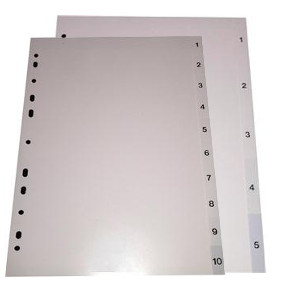 OfficePad Polypropylene Divider Index 1-10