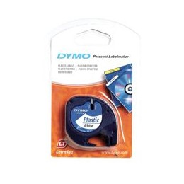 Dymo 12267 12MMX4m Black on Clear Plastic Tape