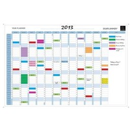 Exacompta Perpetual Year Planner Magnetic Drywipe with Full Accessory Kit W900xH590mm