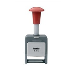 Trodat 5756/P Numberer Stamp Plastic Sequential Self-inking 8 Adjustments 5.5mm Digits