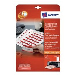 Avery Name Badge Inserts 86x55mm L7418-25 [Pack of 25]