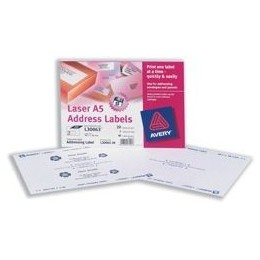 Avery Addressing Labels Laser A5 Sheet of 2 Each 99.1x38.1mm [40 Labels]