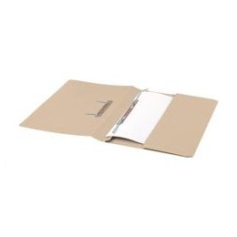 Transfer Spring File with Pocket 285GSM 38mm Foolscap Buff [Pack 25]
