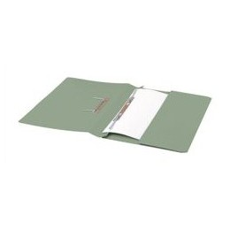 Transfer Spring File with Pocket 285GSM 38mm Foolscap Green [Pack 25]
