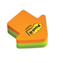 Post-it Arrow Shaped Notes Neon Orange and Green