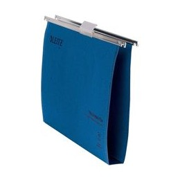Leitz Ultimate Suspension File Recycled with Tabs Inserts 30mm Foolscap Blue [Pack of 50]