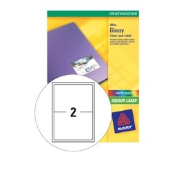 Avery Colour Laser Labels 2/Sheet L7768-40 [Pack of 80 Labels]