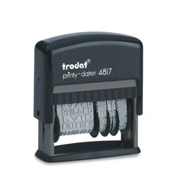 Trodat Printy 4817 Dial-A-Phrase Dater Stamp