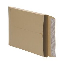 Envelopes Peel and Seal Gusset 25mm 115GSM Manilla 406x305mm [Pack 125]