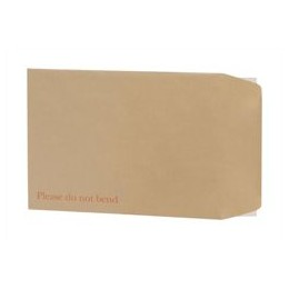 Envelopes Board-Backed Peel and Seal 115g Manilla C4 [Pack of 125]