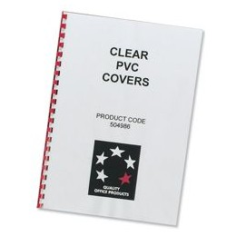 Comb Binding Covers PVC 200 micron A4 Clear [Pack 100]