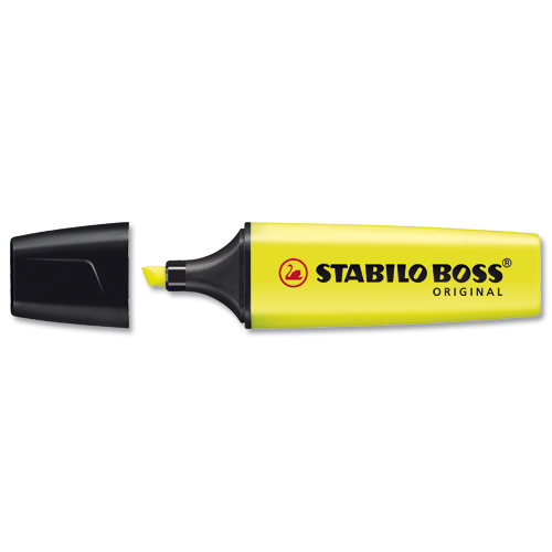 Stabilo BOSS Original Highlighters Yellow [Pack of 10]