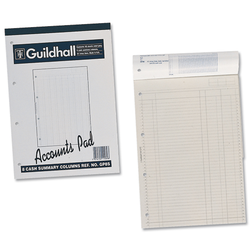 Guildhall Account Pad 2 Cash Columns