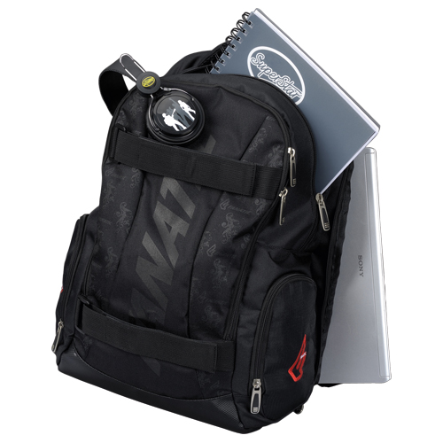 Lightpak Laptop Backpack Padded Nylon Capacity 17IN Black