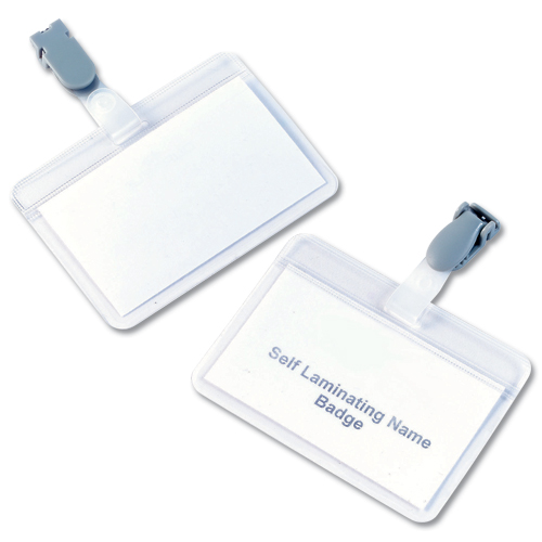 Durable Badge 54x90 Name Self Laminating Clear [Pack of 25]