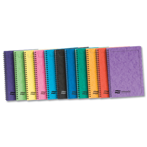 Europa Notemaker A5 Sidebound Assorted A [Pack of 10]