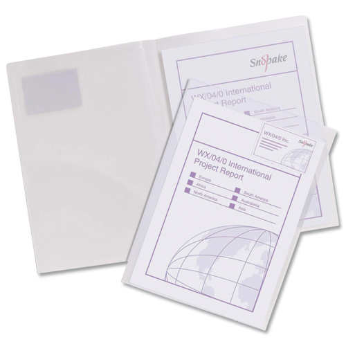 Snopake Twin File Transparent Clear [Pack of 5]