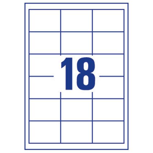 avery inkjet labels 18  sheet 63 5x46 6mm j8161