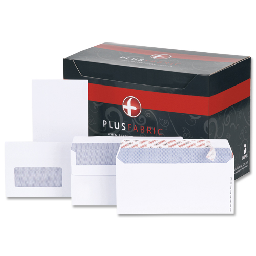 Plus Fabric Envelopes Press Seal DL White [Pack of 500]