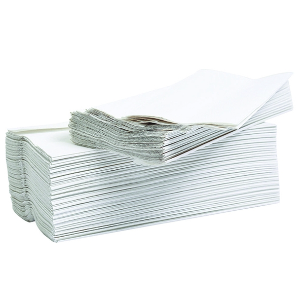 2Work Flushable C-Fold Hand Towel Embossed 2-Ply White 96 Sheets [Pack of 24]