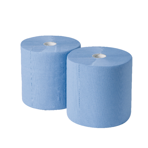 2Work Industrial Roll Blue [Pack of 2]