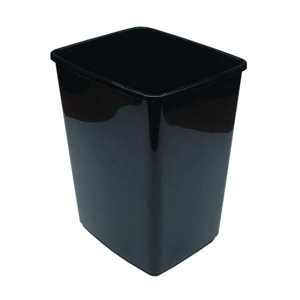 2Work 10 Litre Swing Bin Base Black