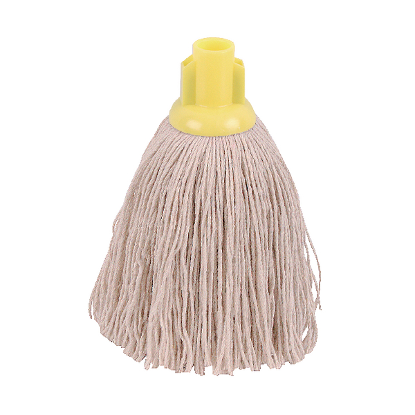 2Work 12oz Twine Rough Socket Mop Yellow [Pack of 10]