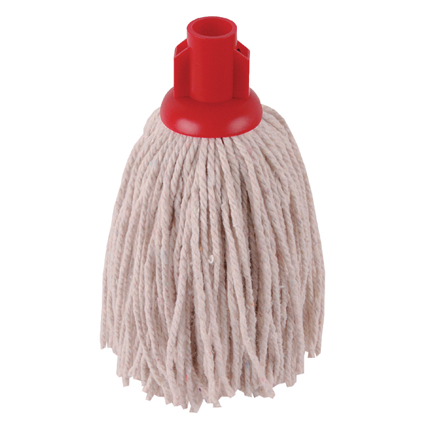 2Work 12oz PY Smooth Socket Mop Red [Pack of 10]