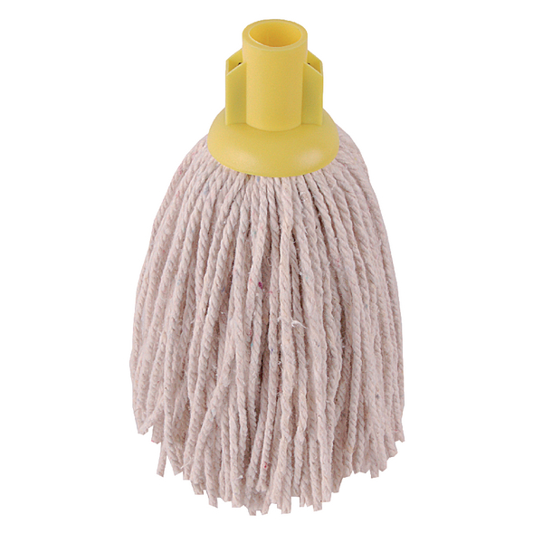2Work 12oz PY Smooth Socket Mop Yellow [Pack of 10]