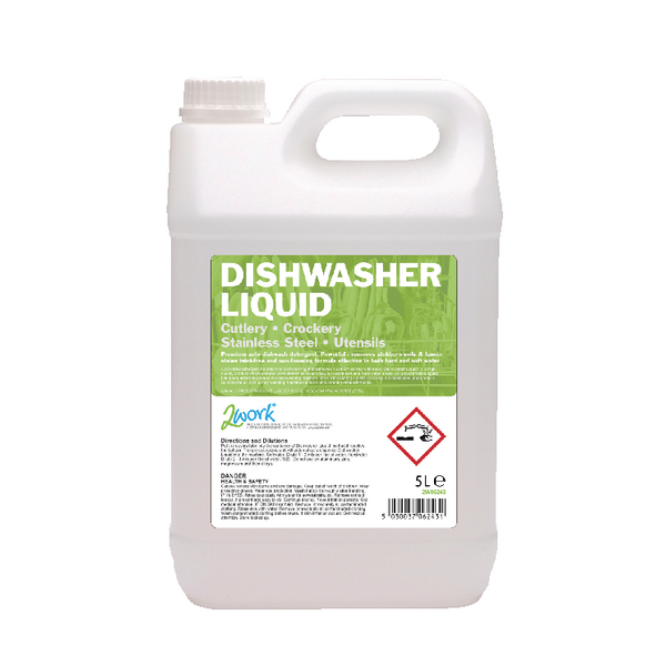 2Work Dishwasher Liquid 5 Litre