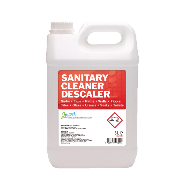 2Work Sanitary Cleaner and Descaler 5 Litre [Pack of 2]
