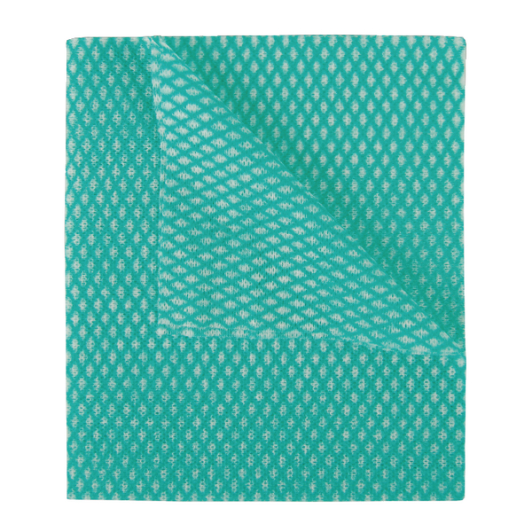 2Work Economy Cloths Green 420x350mm [Pack of 50]
