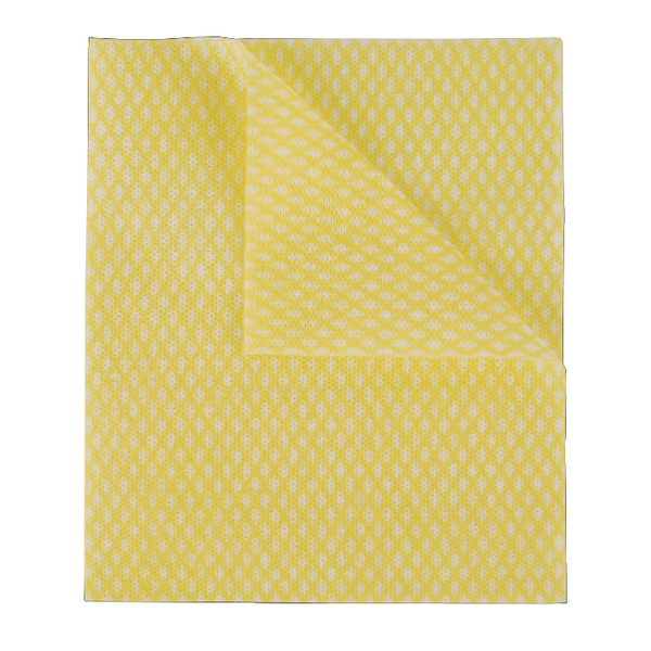 2Work Economy Cloths Yellow 420x350mm [Pack of 50]