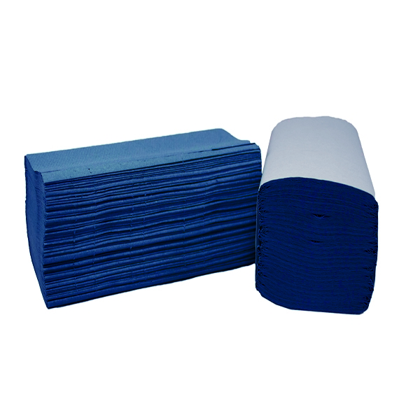 2Work 1 Ply Blue I-Fold 242x222mm [Pack of 3600]