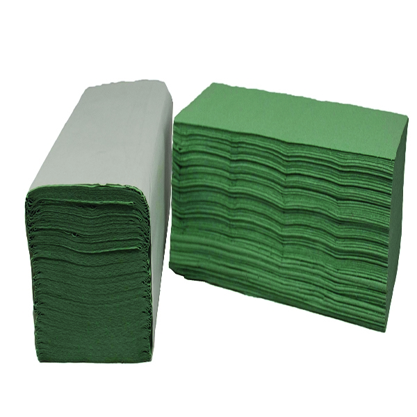 2Work 1 Ply Green I-Fold 242x222mm [Pack of 3600]