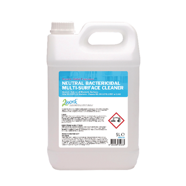 2Work Bactericidal Multi-Surface Cleaner 5 Litre