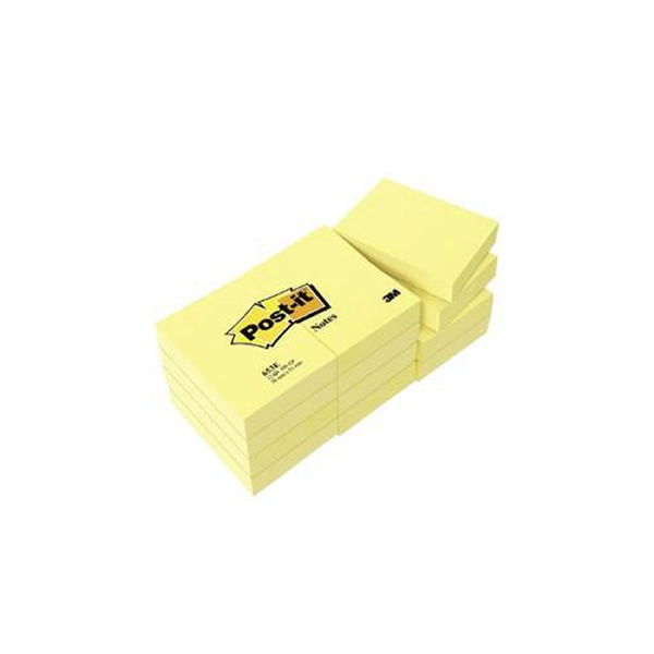 Post-It Notes Small Yellow 2x1.5 Inches [Pack of 12]