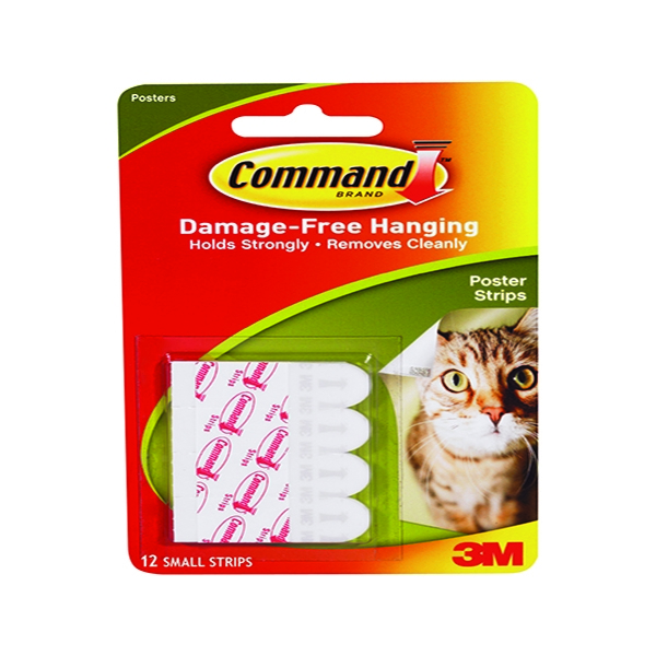 3M Command Adhesive Poster Strips Small [Pack of 12]